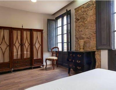 Vintage double ensuite bedroom w/bathroom Gracia north, in co-living house 1.2  - Gallery -  2