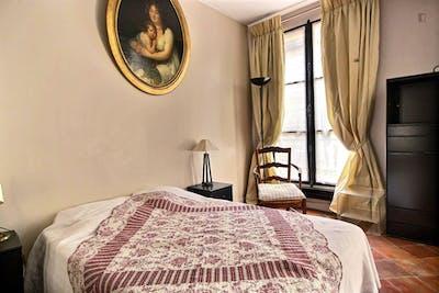 Vintage 1-bedroom apartment with a charming fireplace in Paris, next to Cathédrale Notre-Dame de Paris   - Gallery -  1