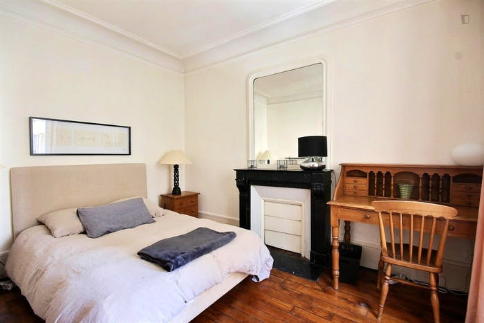 Vintage 1-bedroom apartment with a cozy fireplace in Paris, near Convention subway station  - Gallery -  1