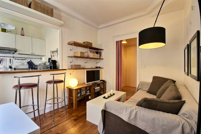 Vintage 1-bedroom apartment with a cozy fireplace in Paris, near Convention subway station  - Gallery -  9