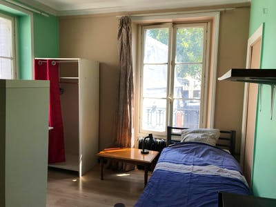 Single bed in a comfy twin bedroom in a Student Residence