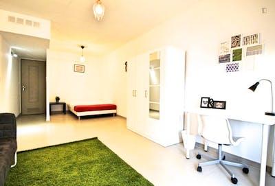 Beautiful double bedroom in a 4-bedroom apartment