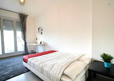 Charming double bedroom in a 4-bedroom apartment