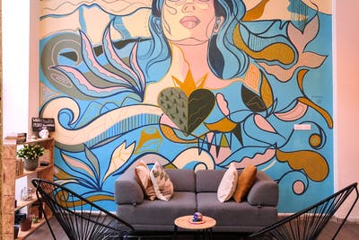 Colorful Traditional House w/ Coworking + Lounge Areas