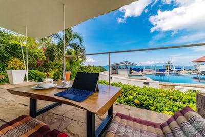 Exclusive Beachfront Villa w/  Ocean View + Coworking + Yoga Studio