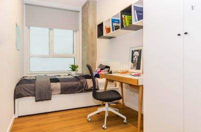 Spacious single bedroom in Krakow