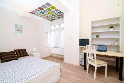 Welcoming double bedroom in Karlín