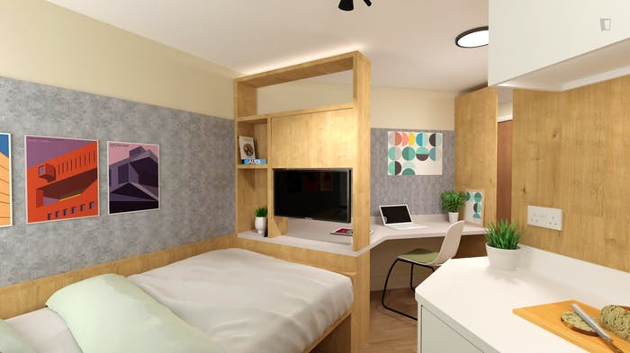 Wonderful studio, in a residence near Aldgate East Station metro station  - Gallery -  1