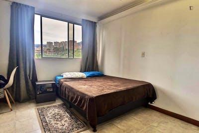 Coll double bedroom in Santa María de Los Ángeles