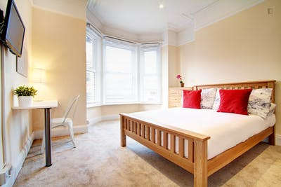 Very bright double bedroom in an 8-bedroom apartment, in Hyde Park  - Gallery -  1