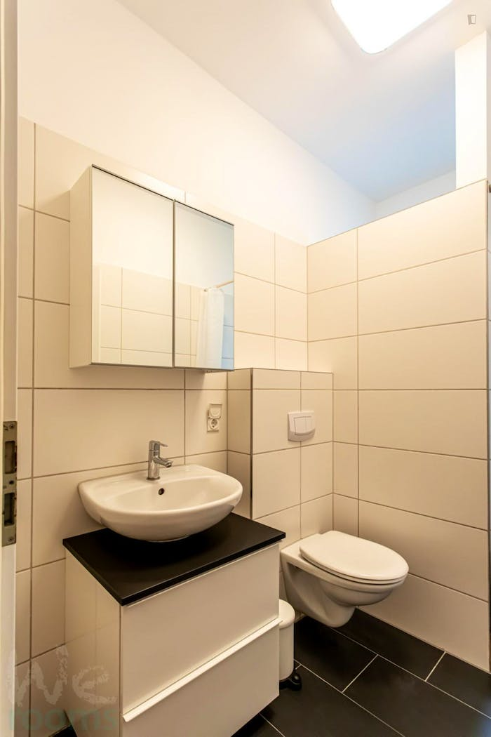 Wonderful single-bedroom in a 5-bedroom apartment in Frankfurt, Sceneviertel near to the central train station  - Gallery -  9