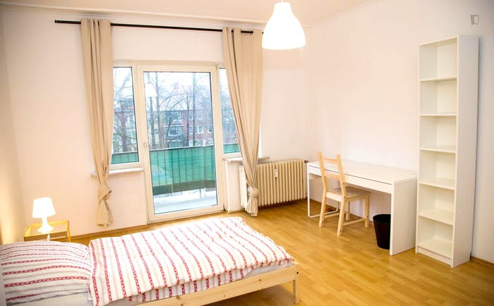 Welcoming single bedroom near the University of Fine Arts of Hamburg  - Gallery -  2