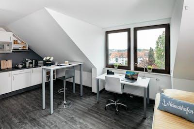 Comfortable Attic studio XL Platinum, in a residence near Park Sentmaring